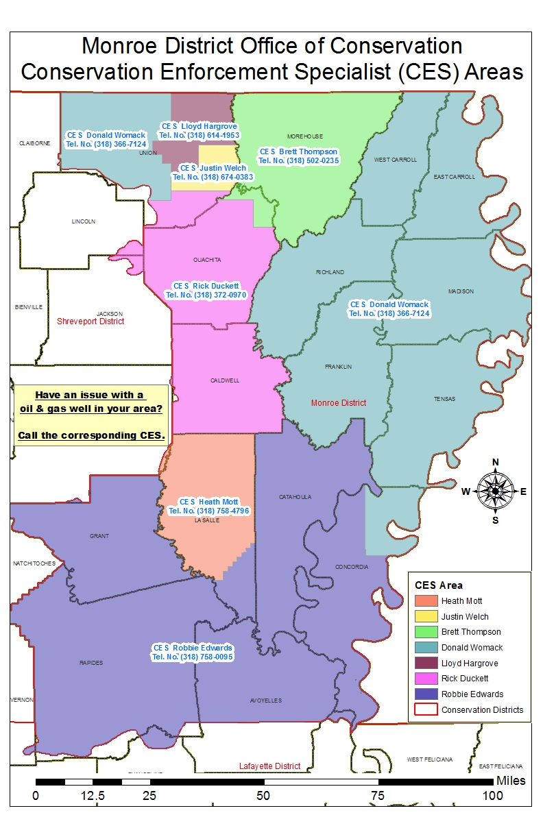 Monroe District CES Area of Responsibility Map