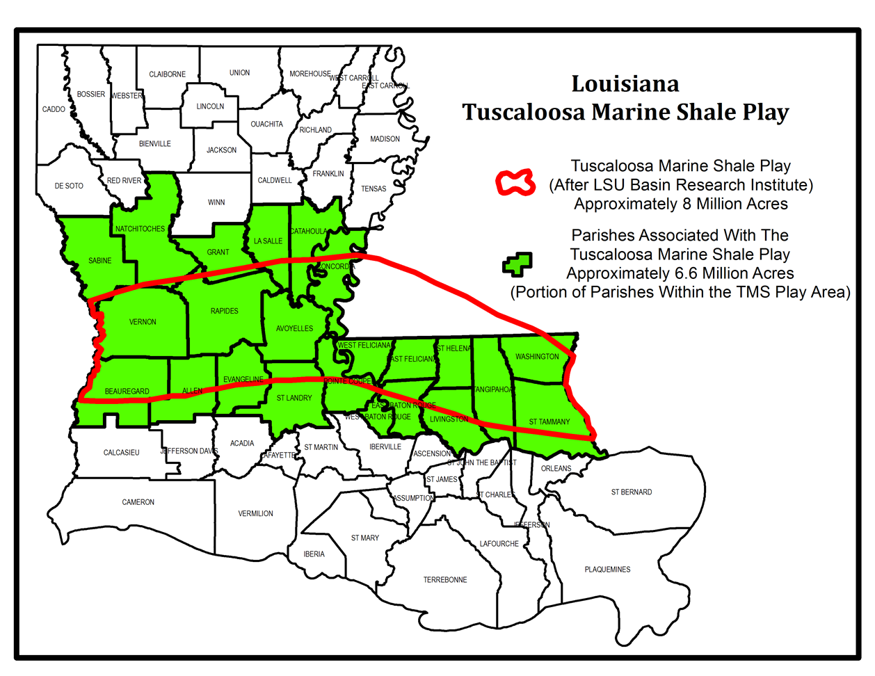 Image result for fracking louisiana maps