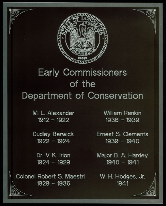 Early Commissioners of the Department of Conservation, 1912 - 1941