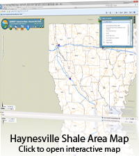 Haynesville Shale Area Map