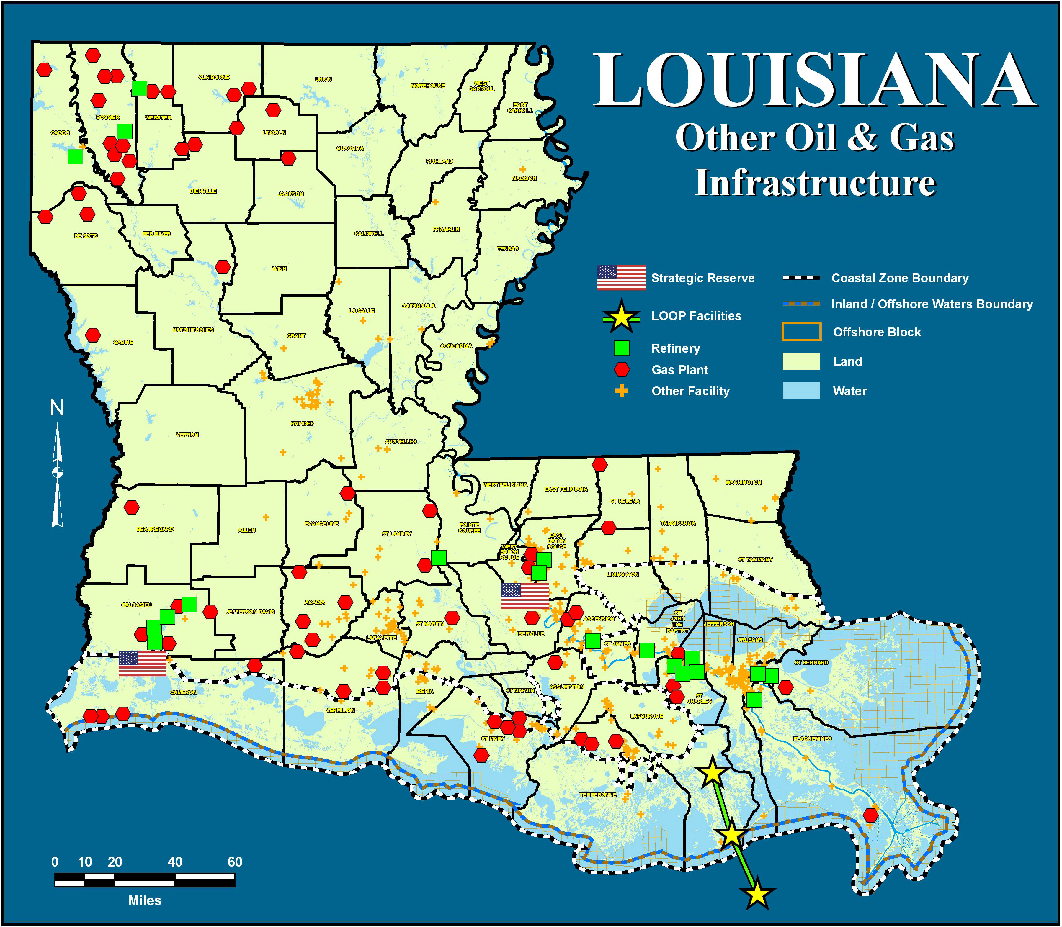 Department Of Natural Resources State Of Louisiana - Physical map of louisiana